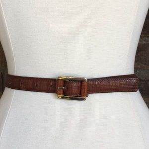 Vintage Fendi Brown Leather Belt Size L